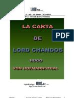Carta de Lord Chandos, La