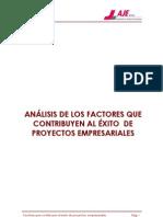 Analisis de Los Factores Que Contribuyen Al Exito de Proyectos Empresariales