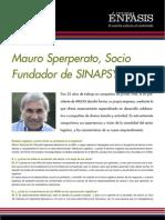 Mauro Sperperato, Socio Fundador de SINAPSYS