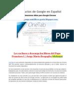 Los_Productos_de_Google_en_Español