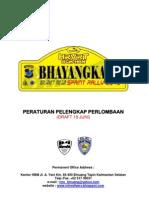 Draft Peraturan Pelengkap Perlombaan Bhayangkara Sprint Rally 2013