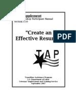f-tapsupplement-createaneffectiveresume8 9 07