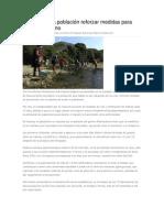 13-06-13 oaxacahoy Pide SSO a la población reforzar medidas para evitar paludismo