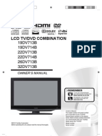 Toshiba LCD TV/DVD COMBINATION