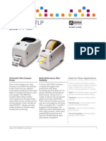 Zebra LP/TLP 2824plus Datasheet en Us