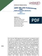 cronología de las funciones del TRABAJADOR SOCIAL
