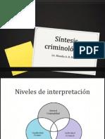 Síntesis Criminológica