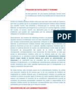 ADMINISTRACIÓN  DE TURISMO Y HOTELERIA
