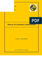 Manual de Estadística Multivariante