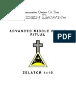 GOLDEN DAWN Advanced Middle Pillar Ritual