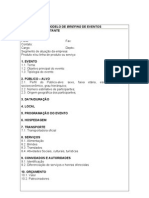 Modelo de Briefing de Eventos