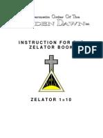 GOLDEN DAWN Instruction for the Zelator Book