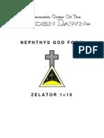 GOLDEN DAWN 1=10 Nephthis God Form
