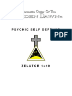 GOLDEN DAWN 1=10 Psychic Self Defense