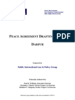 Peace Agreement Drafting Guide - Darfur