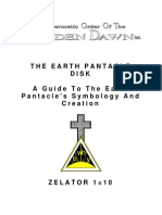 GOLDEN DAWN 1=10 The Earth Pentacle Disk