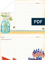 Summer Recipe Cards from Gooseberry Patch