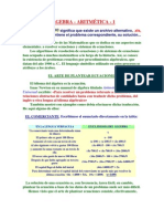 ÁLGEBRA- aritmetica
