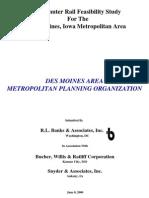 Commuter Rail Feasibility Study for the Des Moines, Iowa Metropolitan Area