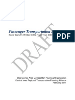 Passenger Transportation Plan 2012