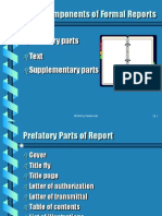 Parts of Reports Three Components of Formal Reports