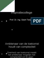 Geert Teisman, Inspiratiecollege BZK 2009