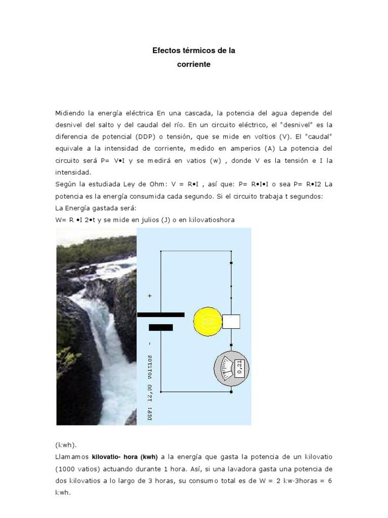 Circuito Que Recorre La Electricidad Desde Su Generación Hasta Su Consumo : Efectos térmicos de la