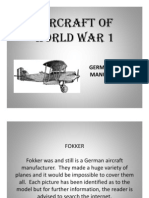 Fokker Aircraft of World War 1