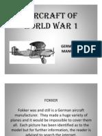 Fokker Aircraft of World War 1