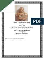 Ciceron - Bruto o de Los Ilustres Oradores (Bilingue)