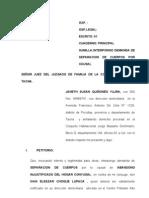 Demanda de Separacionde Cuerpos Familia !!!! Tarea