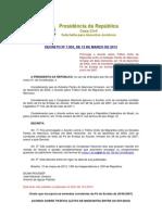 DECRETO Nº 7.953, DE 12 DE MARÇO DE 2013