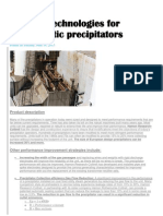 Upgrade Technologies for Electrostatic Precipitators