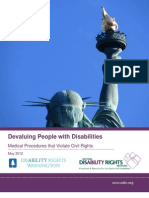 Devaluing People With Disabilities National Disability Rights Network