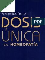Dosis Unica en Homeopatia