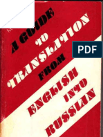 A Guide to Translation From English Into Russian