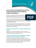 CMS FAQs on Medicare ACOs