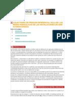 COLECTORES DE PRESIÓN DIFERENCIAL NULA