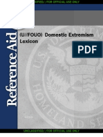 Domestic Extremism Lexicon (U.S. Department of Homeland Security Reference Aid)