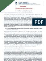 Comunicado del CPPe (publicado en el Diario La República el domingo 16 de junio de 2013)