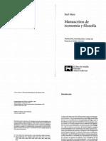 Marx-Manuscritos de economía y filosofía