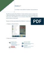 Activar IIS en Windows 7