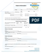Scrips Pediatric Dentistry New Patient Packet