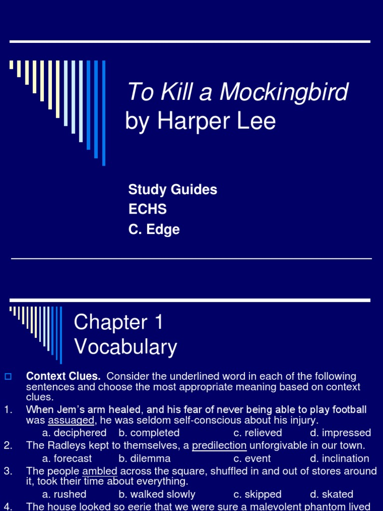 Letter to the editor: To kill a Mocking Bird?