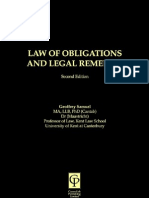 Law of Obligations and Legal Remedies