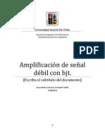 Amplificación de señal débil con bjt