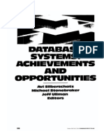 Database Systems - Achievements and Opportunities - Silberschatz