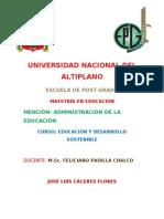 El Desarrollo Humano - Jose Luis Caceres Flores