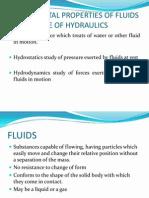 HYDRAULICS Fundamental Properties of Fluids