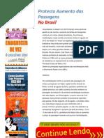 Protesto Aumento Das Passagens No Brasil